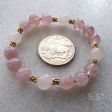 STRETCHY BRACELET--FOR LOVE ATTUNEMENT SOOTHING ROSE QUARTZ (MADAGASCAR) #5