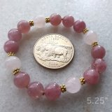 STRETCHY BRACELET--FOR LOVE ATTUNEMENT SOOTHING ROSE QUARTZ (MADAGASCAR) #7