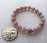 STRETCHY BRACELET--FOR LOVE ATTUNEMENT SOOTHING ROSE QUARTZ (MADAGASCAR) #2