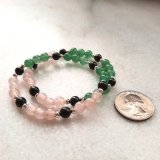 Crystal Jewelry--Shield for Empaths #1 (Green Aventurine/Rose Quartz)