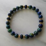 SOOTHER BRACELET--FOR ANXIETY (AZURITE/MALACHITE, LAPIS LAZULI, HEMATITE) #5