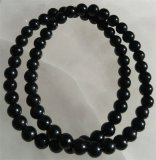 BLACK TOURMALINE/SCHORL STRETCHY BRACELETS #5
