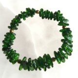 CHROME DIOPSIDE STRETCHY BRACELET #3