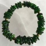 CHROME DIOPSIDE STRETCHY BRACELET #5