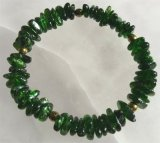 CHROME DIOPSIDE STRETCHY BRACELET #7