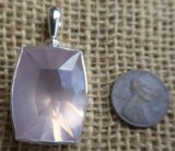 STERLING SILVER ROSE QUARTZ PENDANT #21