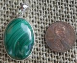STERLING SILVER MALACHITE PENDANT #2
