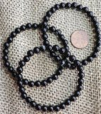 BLACK AGATE STRETCHY BRACELETS #1