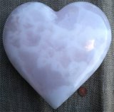 PINK CALCITE HEART #7