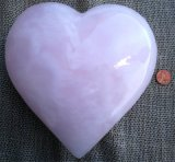 PINK CALCITE HEART #5