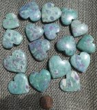RUBY IN FUCHSITE HEARTS #1