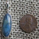 STERLING SILVER DIANITE/BLUE JADE PENDANT #7
