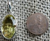 STERLING SILVER LEMON QUARTZ PENDANT #10