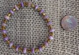 CHAROITE WITH TINAKSITE AND AMETHYST STRETCHY BRACELET #9