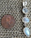STERLING SILVER RAINBOW MOONSTONE PENDANT #17