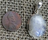 STERLING SILVER RAINBOW MOONSTONE PENDANT #4