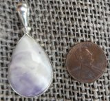 STERLING SILVER TIFFANY STONE PENDANT #5