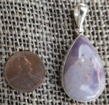 STERLING SILVER TIFFANY STONE PENDANT #6
