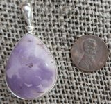 STERLING SILVER TIFFANY STONE PENDANT #7