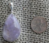 STERLING SILVER TIFFANY STONE PENDANT #13