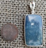 STERLING SILVER DIANITE/BLUE JADE PENDANT #4