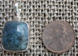 STERLING SILVER DIANITE/BLUE JADE PENDANT #10