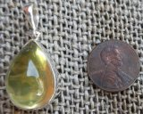 STERLING SILVER LEMON QUARTZ PENDANT #16
