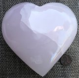 PINK CALCITE HEART #12