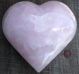PINK CALCITE HEART #13