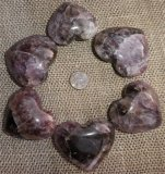 AMETHYST WITH CACOXENITE HEARTS #2
