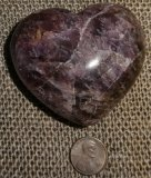 AMETHYST WITH CACOXENITE HEART #4