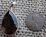 STERLING SILVER SMOKEY QUARTZ PENDANT #17