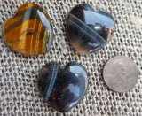 HAWK'S EYE/TIGER EYE HEARTS #2