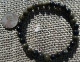 GOLD SHEEN OBSIDIAN STRETCHY BRACELETS #2