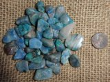 Chrysocolla Shapes and Tumbles