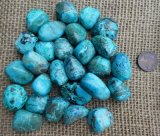 CHRYSOCOLLA WITH MALACHITE TUMBLES #7