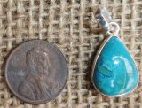 STERLING SILVER CHRYSOCOLLA PENDANT #2