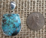 STERLING SILVER CHRYSOCOLLA PENDANT #3