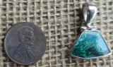 STERLING SILVER CHRYSOCOLLA PENDANT #9