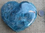 TEAL APATITE HEART #5
