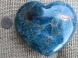 TEAL APATITE HEART #6