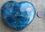 TEAL APATITE HEART #7