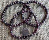 RED GARNET STRETCHY BRACELETS #2