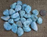 Larimar Crystals, Shapes, and Tumbles