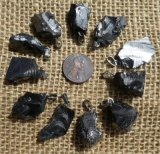 NOBLE SHUNGITE PENDANTS WITH SILVER-TONED METAL #1