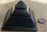 SHUNGITE HAND POLISHED STEP PYRAMIDS #5