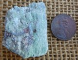 FUCHSITE AND BLUE KYANITE (ROUGH) #15