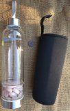 CRYSTAL WATER BOTTLE WITH ROSE QUARTZ #6