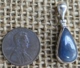 STERLING SILVER BLUE SAPPHIRE PENDANT #7