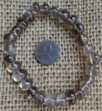 SMOKEY QUARTZ STRETCHY BRACELETS #1